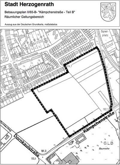Geltungsbereich Bebauungsplan Kämpchenstraße